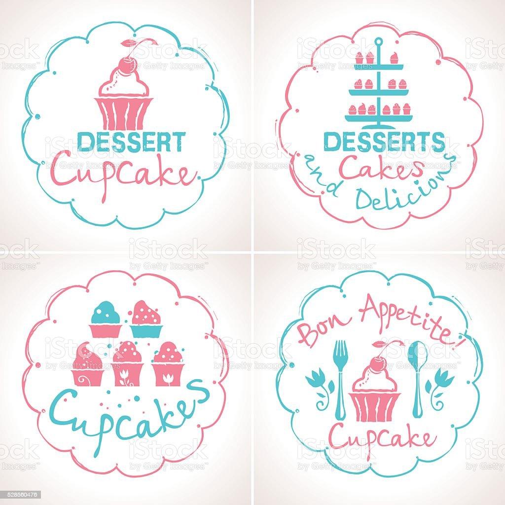 Label set for confectionery. vector art illustration