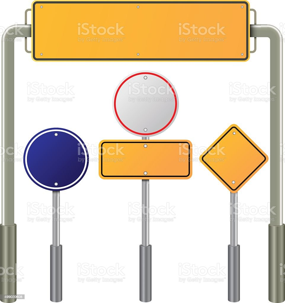 label signposts and sign roads steel object, vector design vector art illustration