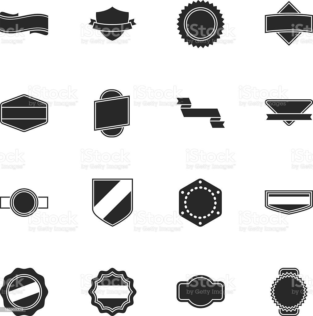 Label Silhouette Icons | Set 1 royalty-free stock vector art