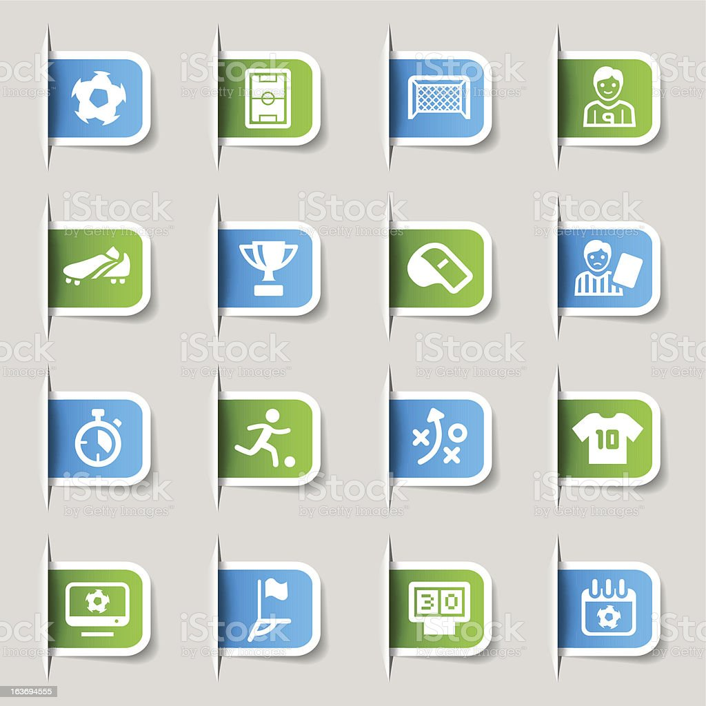 Label - Soccer and Sport Icons royalty-free stock vector art