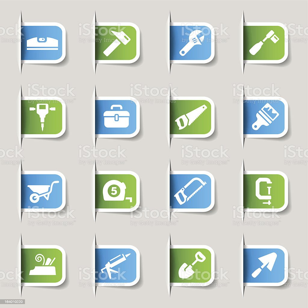 Label - Tools and Construction icons royalty-free stock vector art