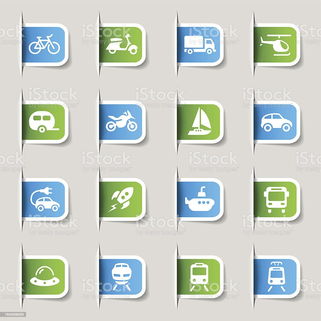 Label - Transportation and Vehicle Icons royalty-free stock vector art