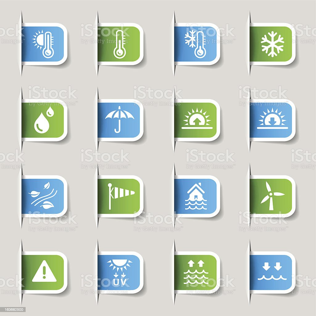 Label - Weather and Meteorology icons royalty-free stock vector art