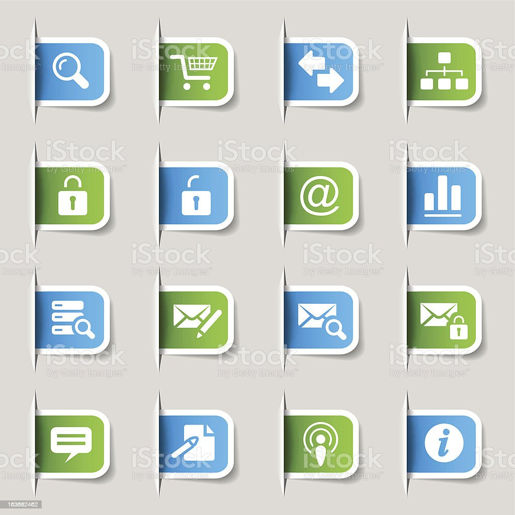 Label - Website and Internet Icons royalty-free stock vector art