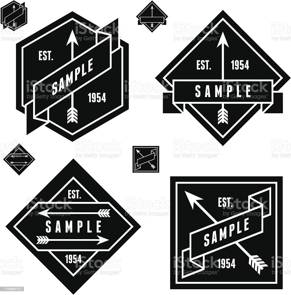 label with arrows royalty-free stock vector art