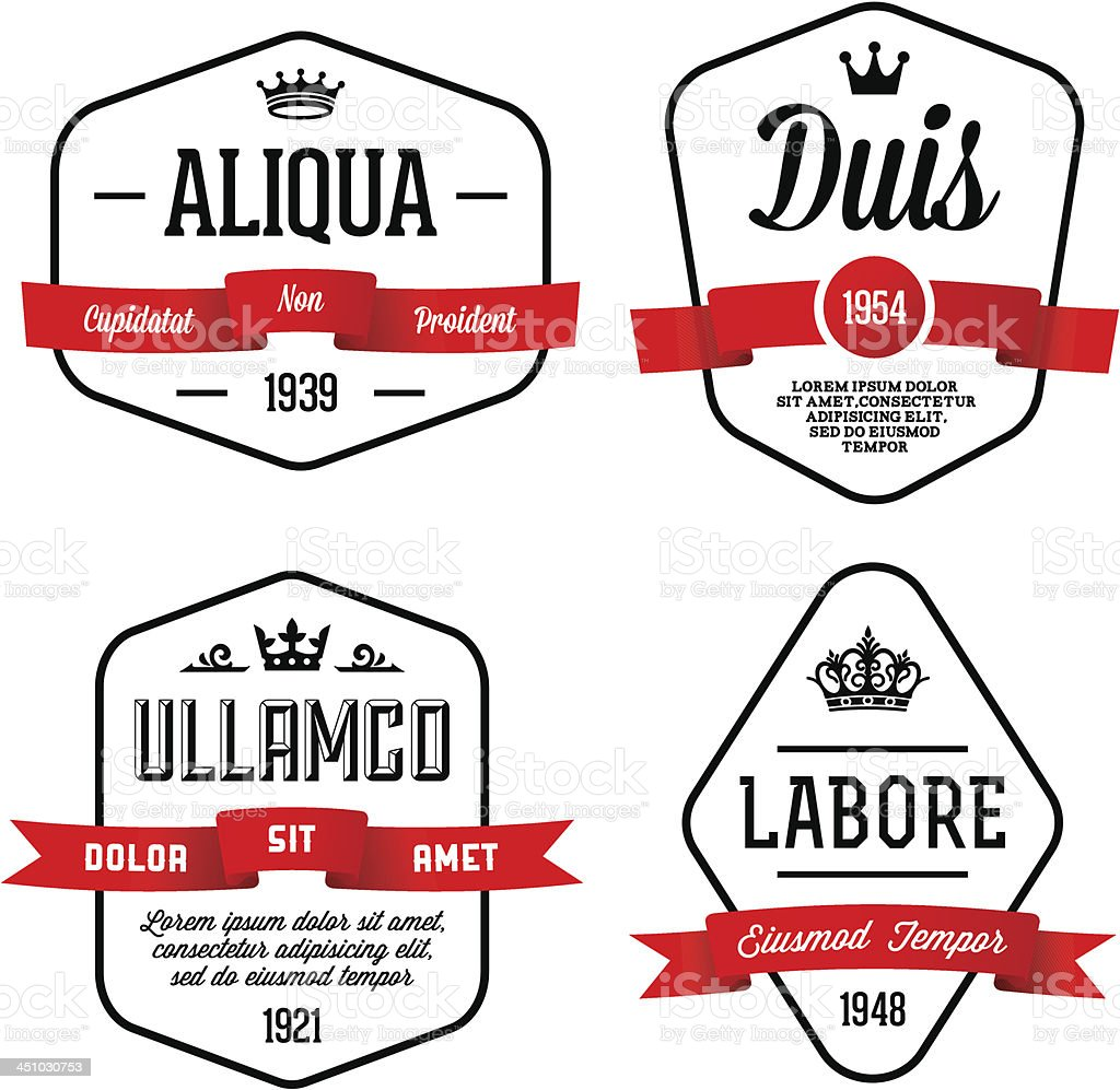 label with ribbon royalty-free stock vector art