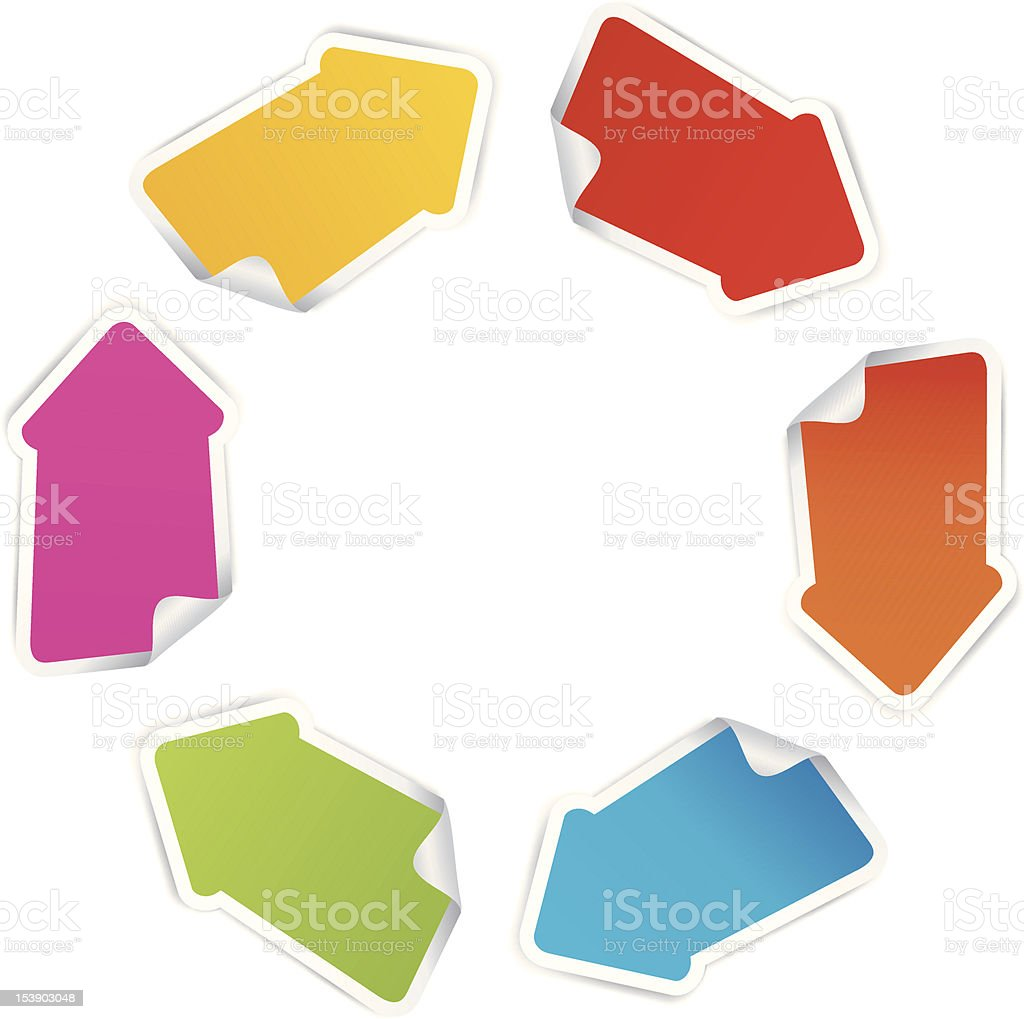 Labels arrows royalty-free stock vector art