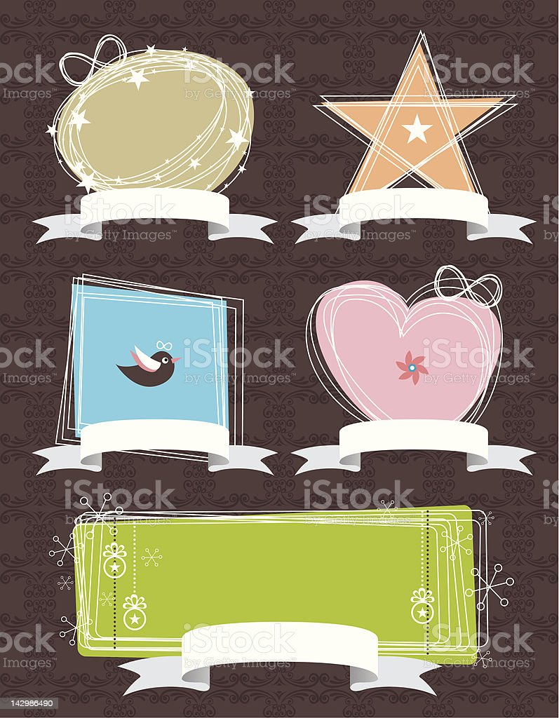 Labels Design royalty-free stock vector art