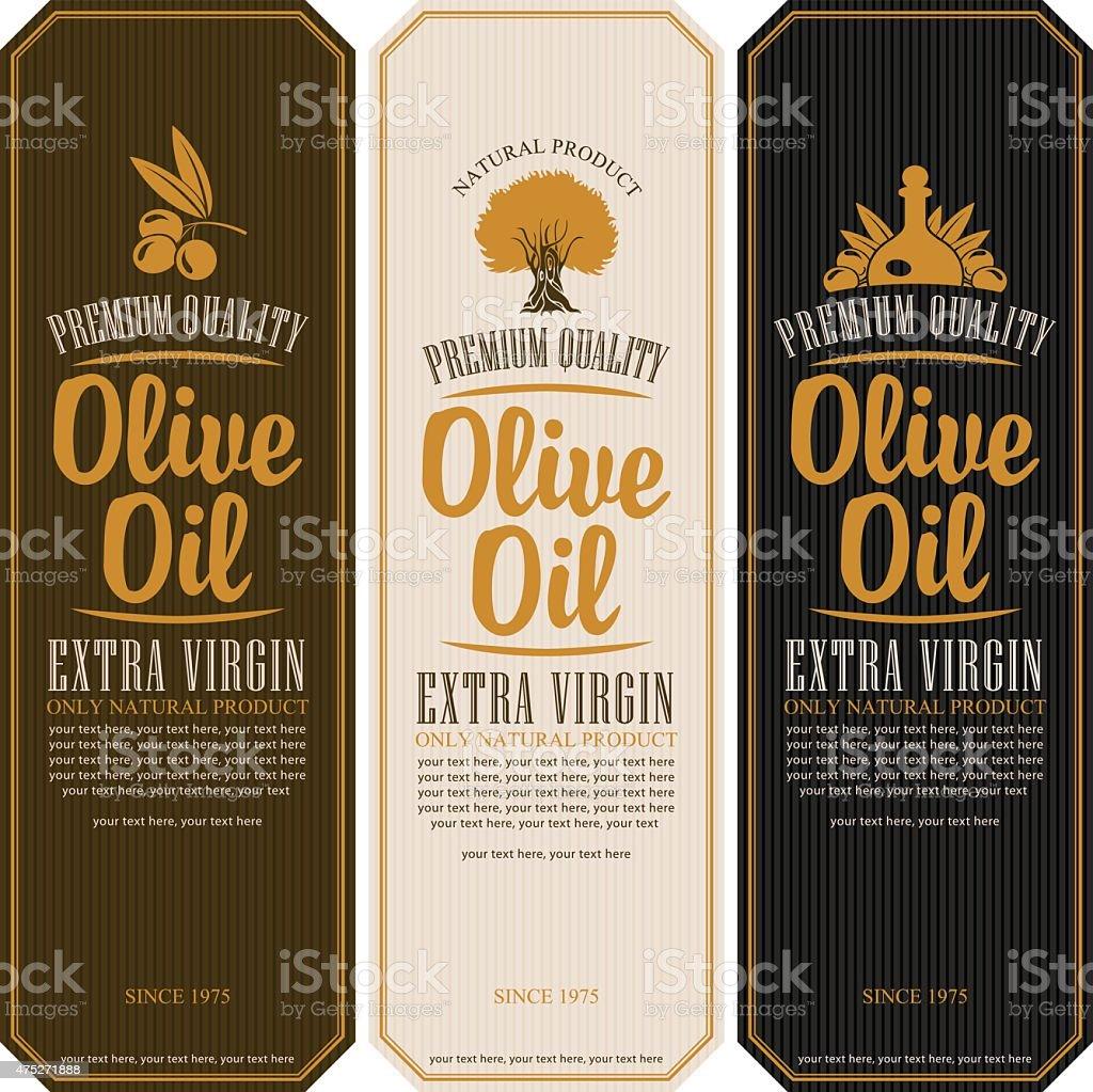 labels for olive oils vector art illustration