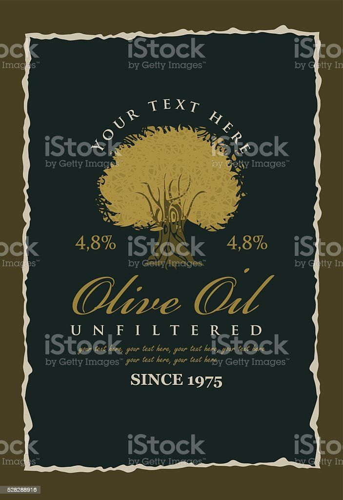 labels for olive oils vector art illustration