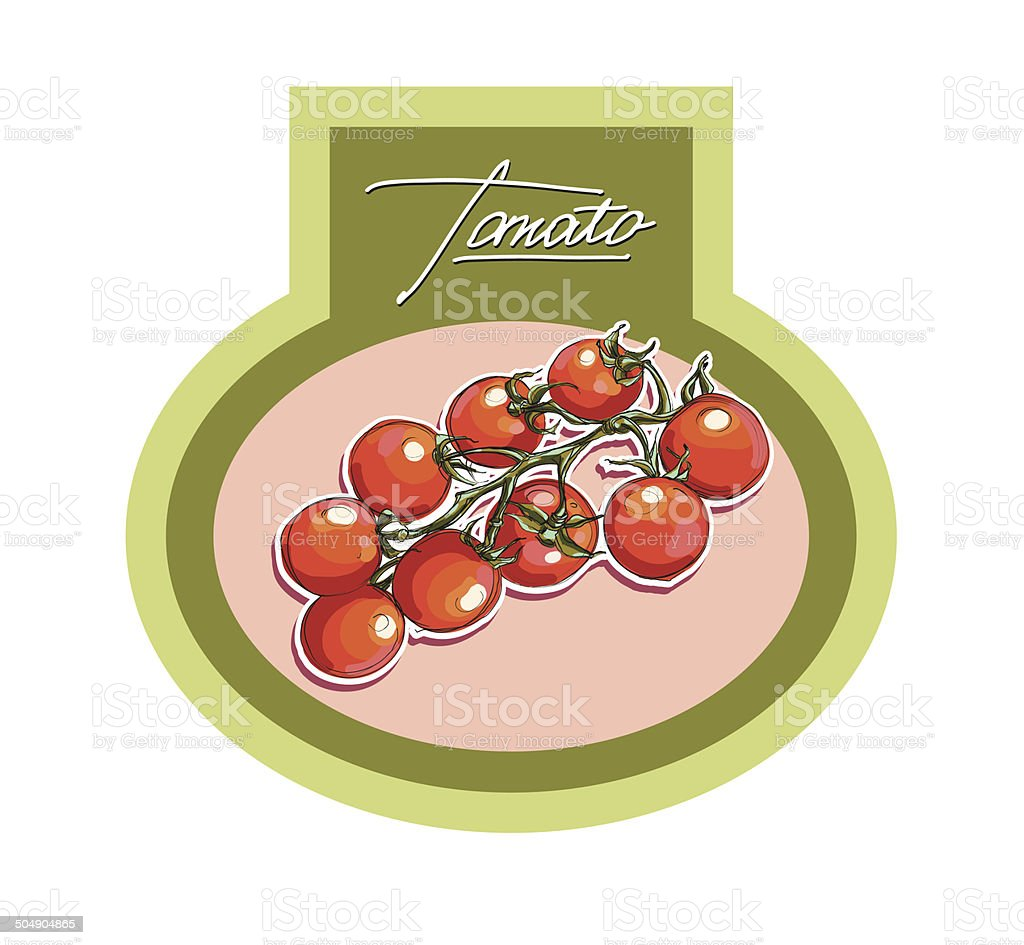 Labels for vegetable products, vector realistic vector art illustration