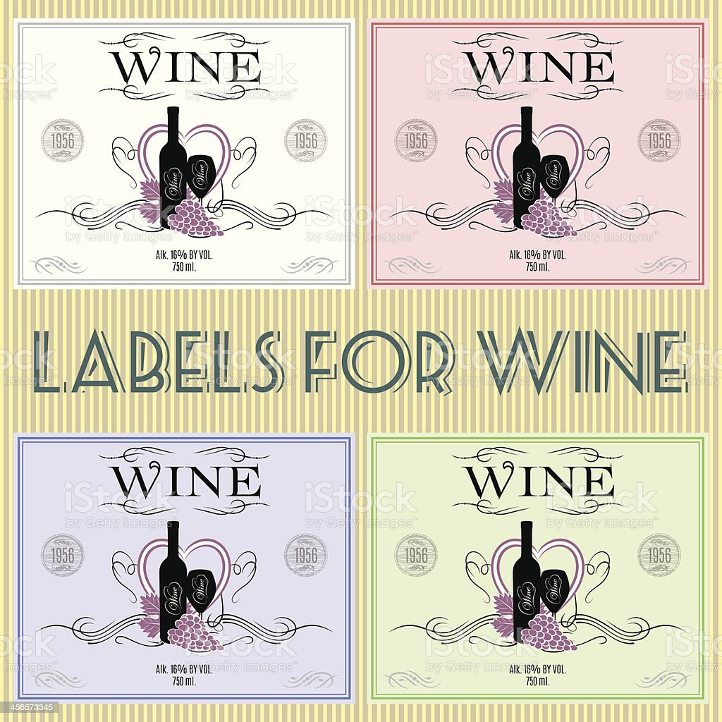 labels for wine royalty-free stock vector art
