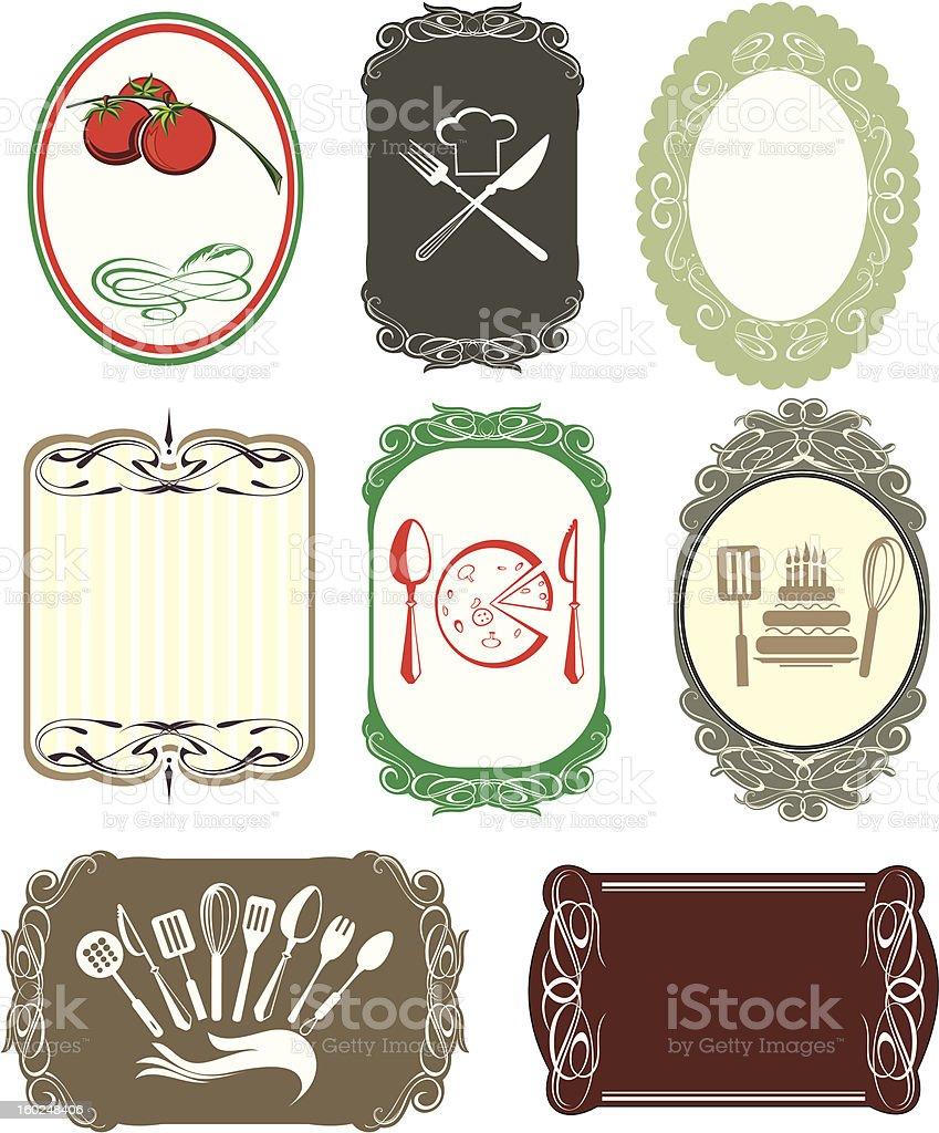 Labels frames royalty-free stock vector art