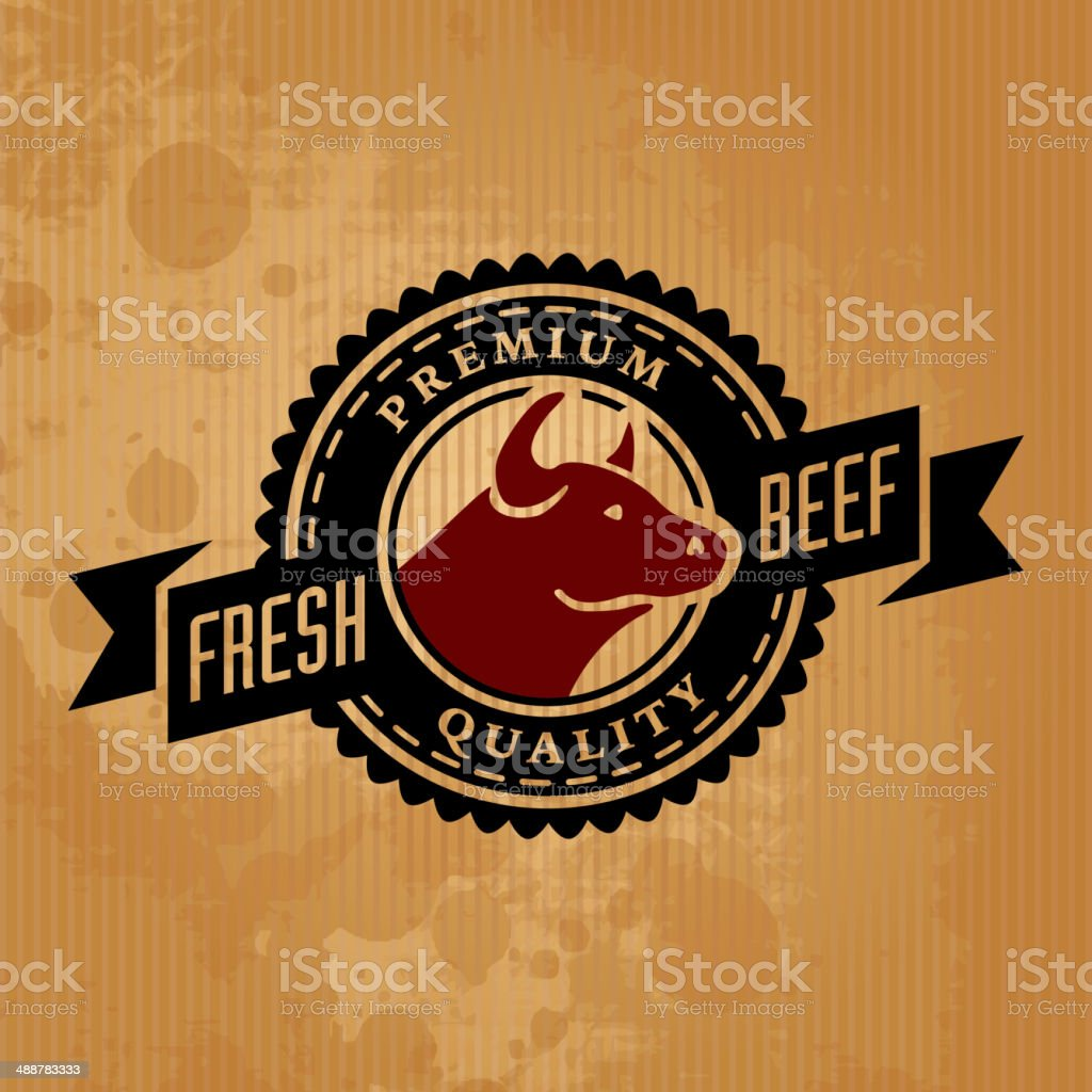 Labels of butcher shop royalty-free stock vector art
