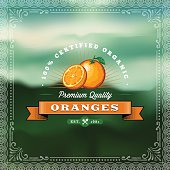 F&B Labels - Oranges