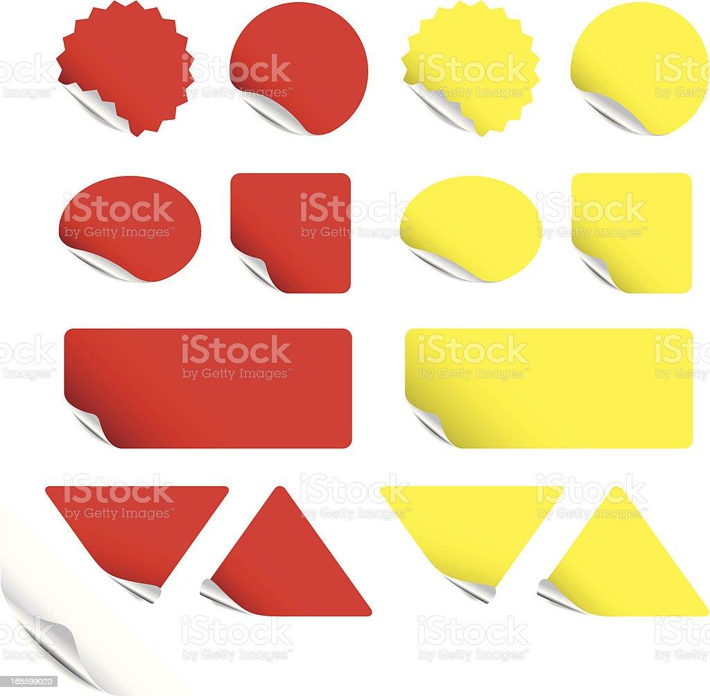 Labels with foil backs vector art illustration