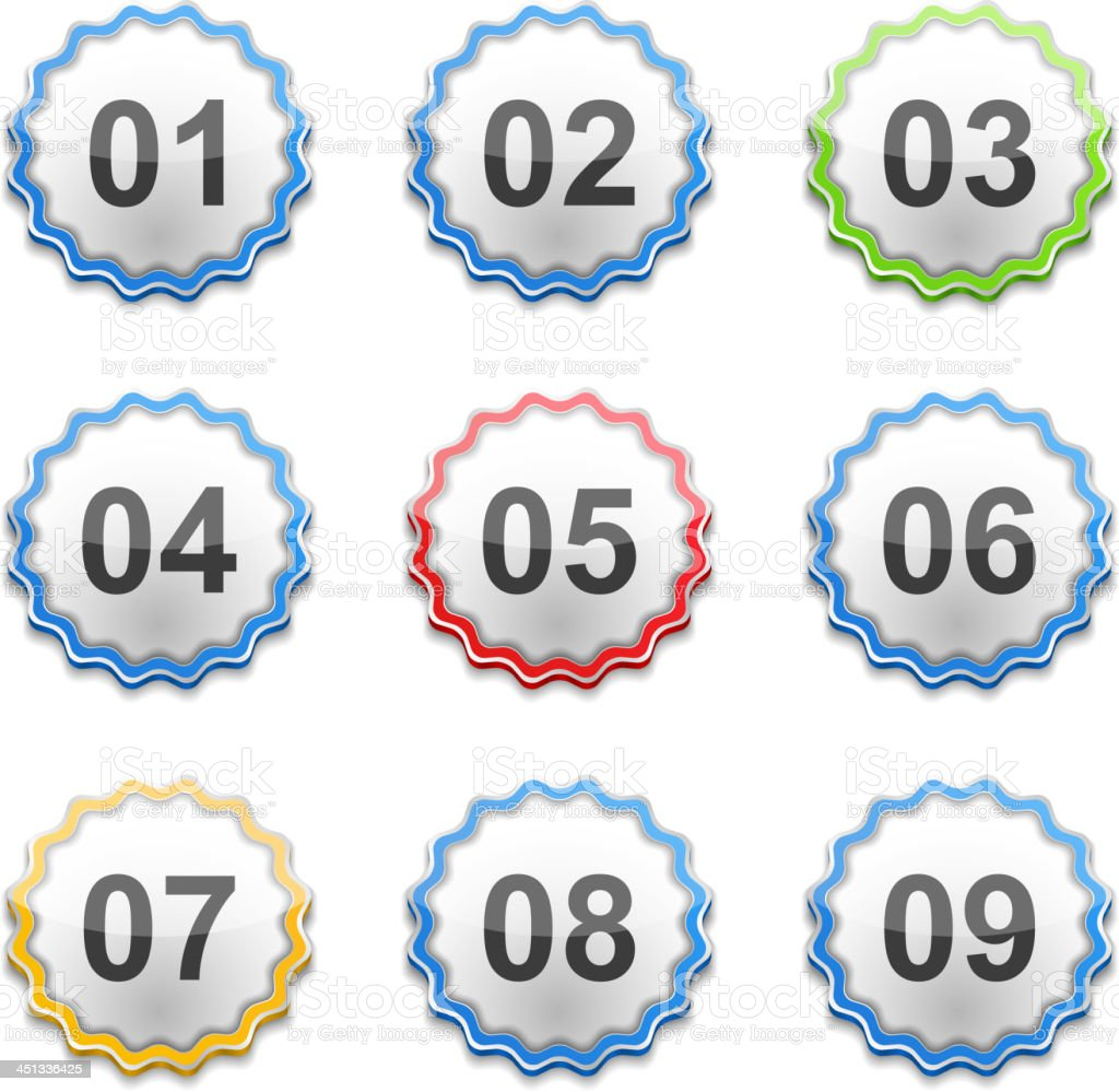 Labels with Numbers royalty-free stock vector art
