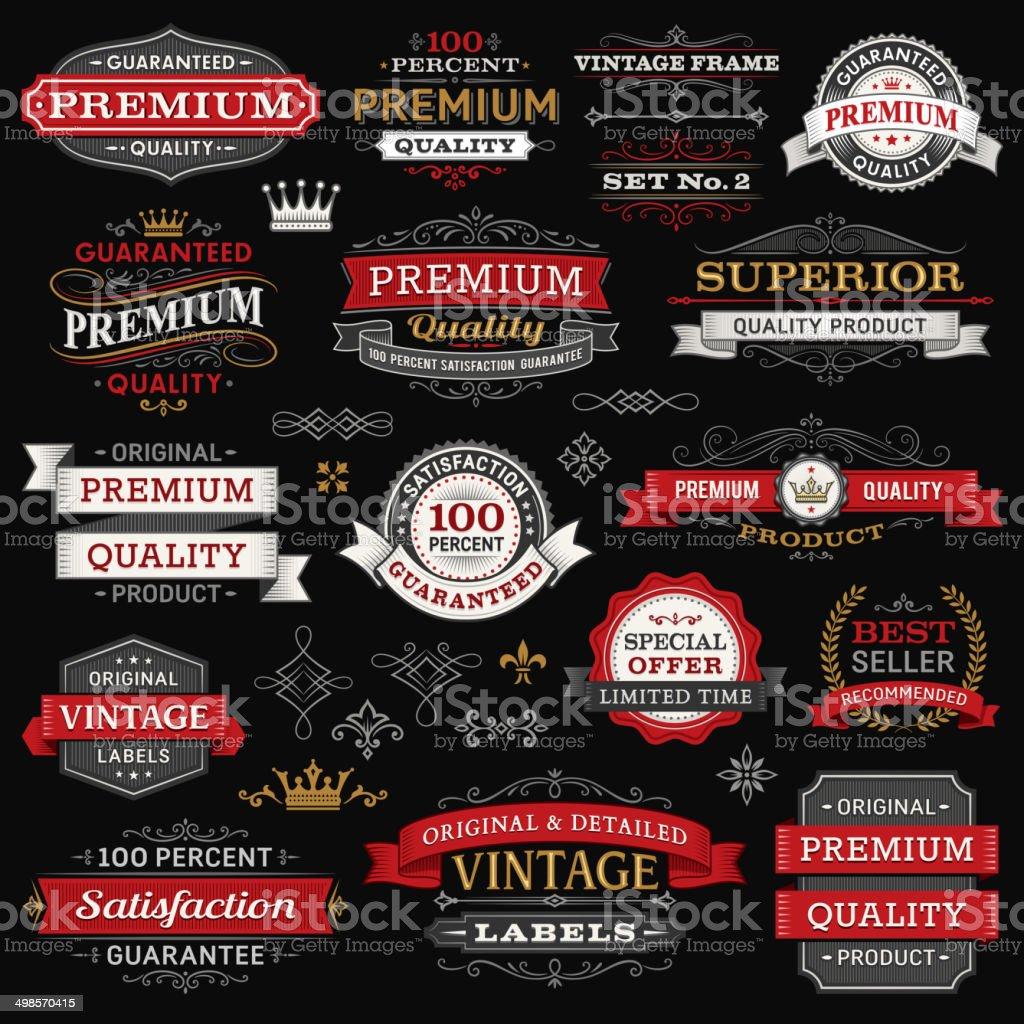 Labels,Frames and Banners vector art illustration