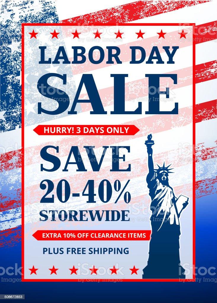 Labor Day Sale Banner vector art illustration