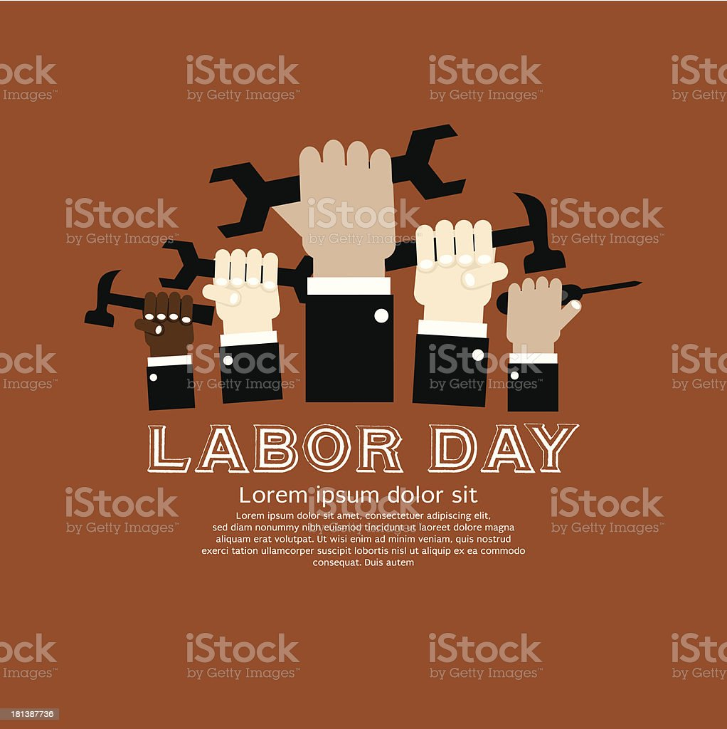 Labor day simply and clean illustration. royalty-free stock vector art