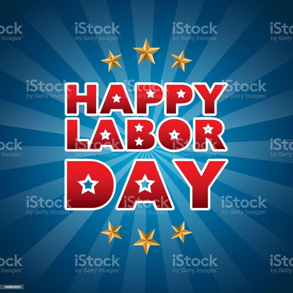 Labor Day royalty-free stock vector art