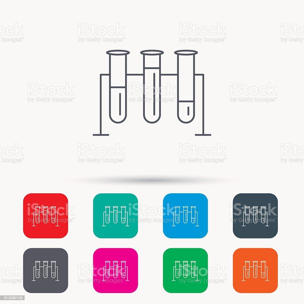 Laboratory bulbs icon. Chemistry sign. vector art illustration