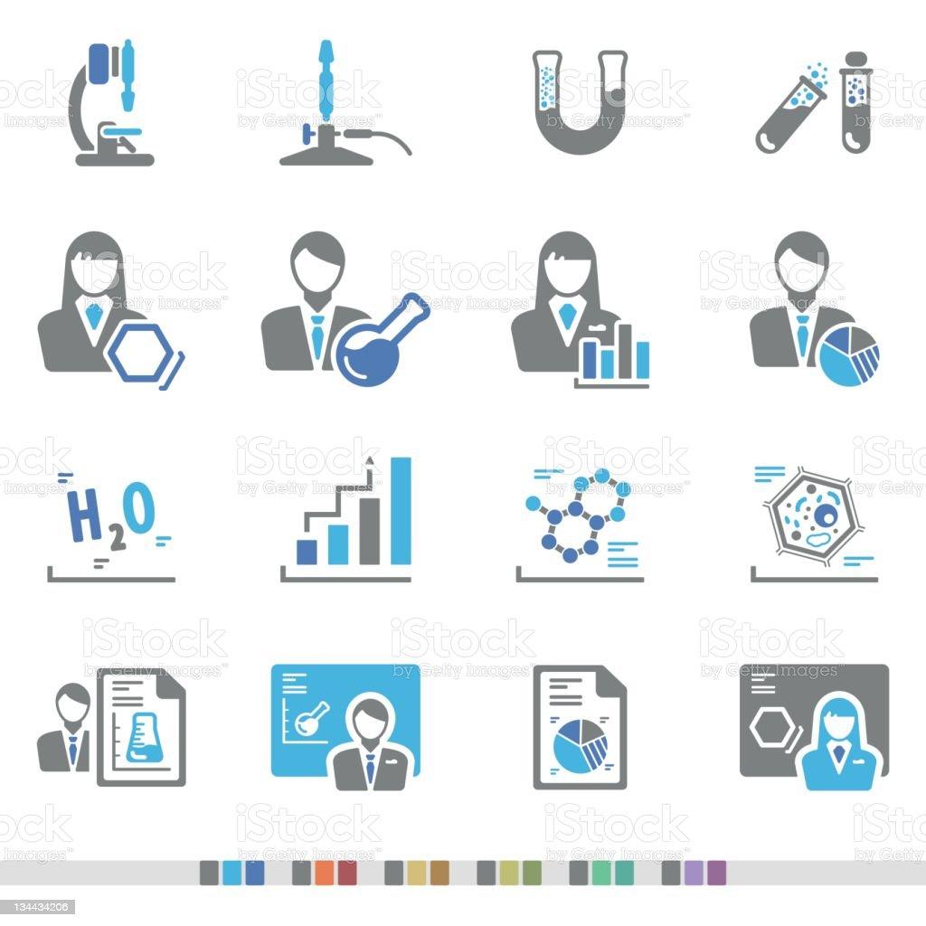 Laboratory | Chromatic Icons vector art illustration