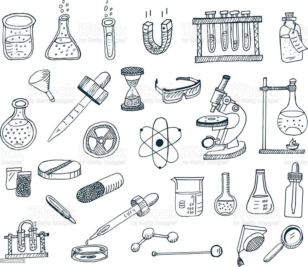 Laboratory Equipment vector art illustration
