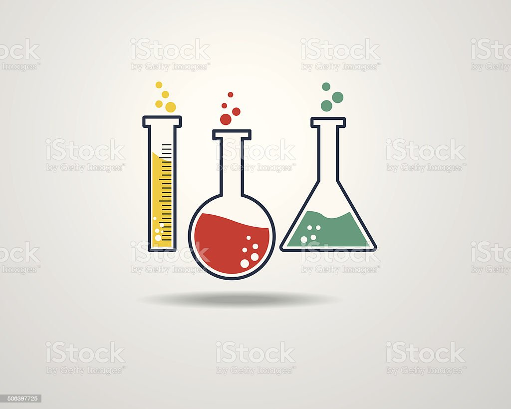 Laboratory Glass Icon royalty-free stock vector art
