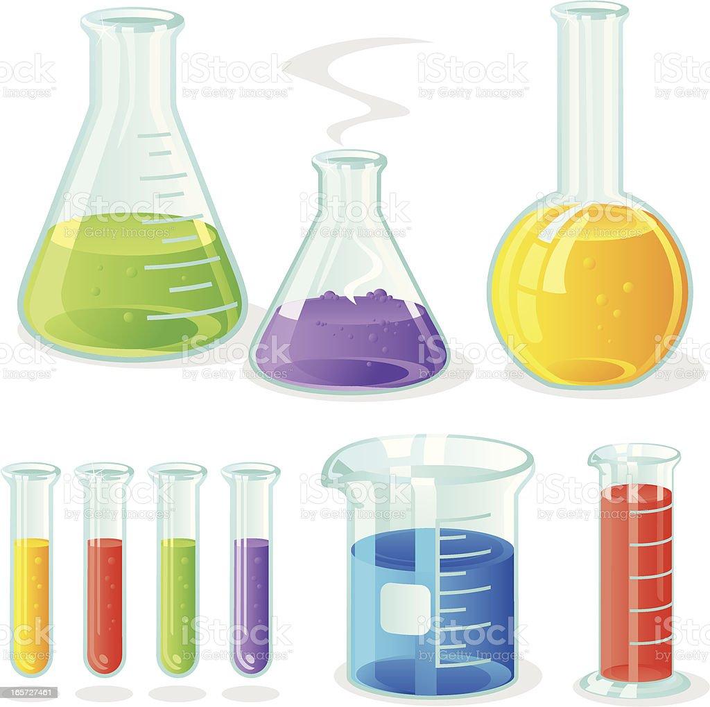 Laboratory Glassware royalty-free stock vector art
