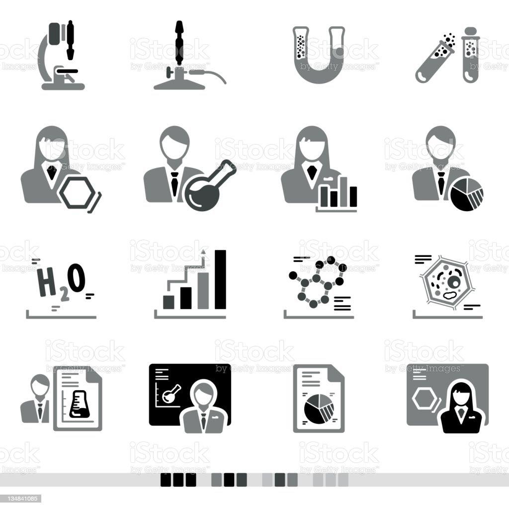 Laboratory | Grey Icons royalty-free stock vector art