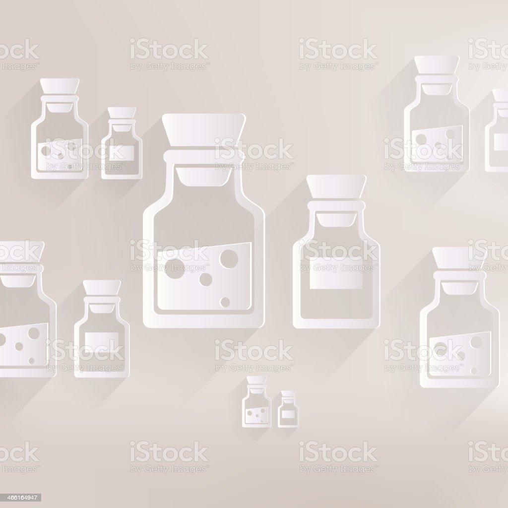 Laboratory medical flask royalty-free stock vector art
