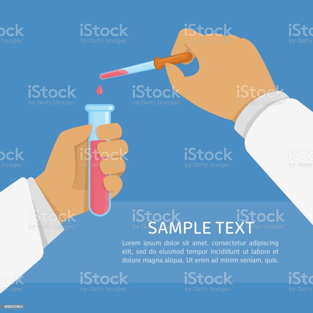Laboratory research illustration. vector art illustration