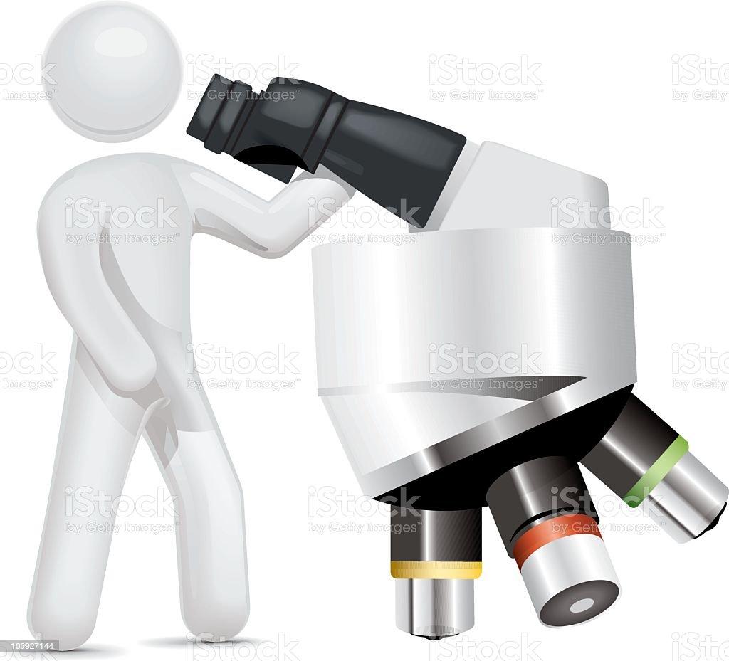 Laboratory Scientist royalty-free stock vector art