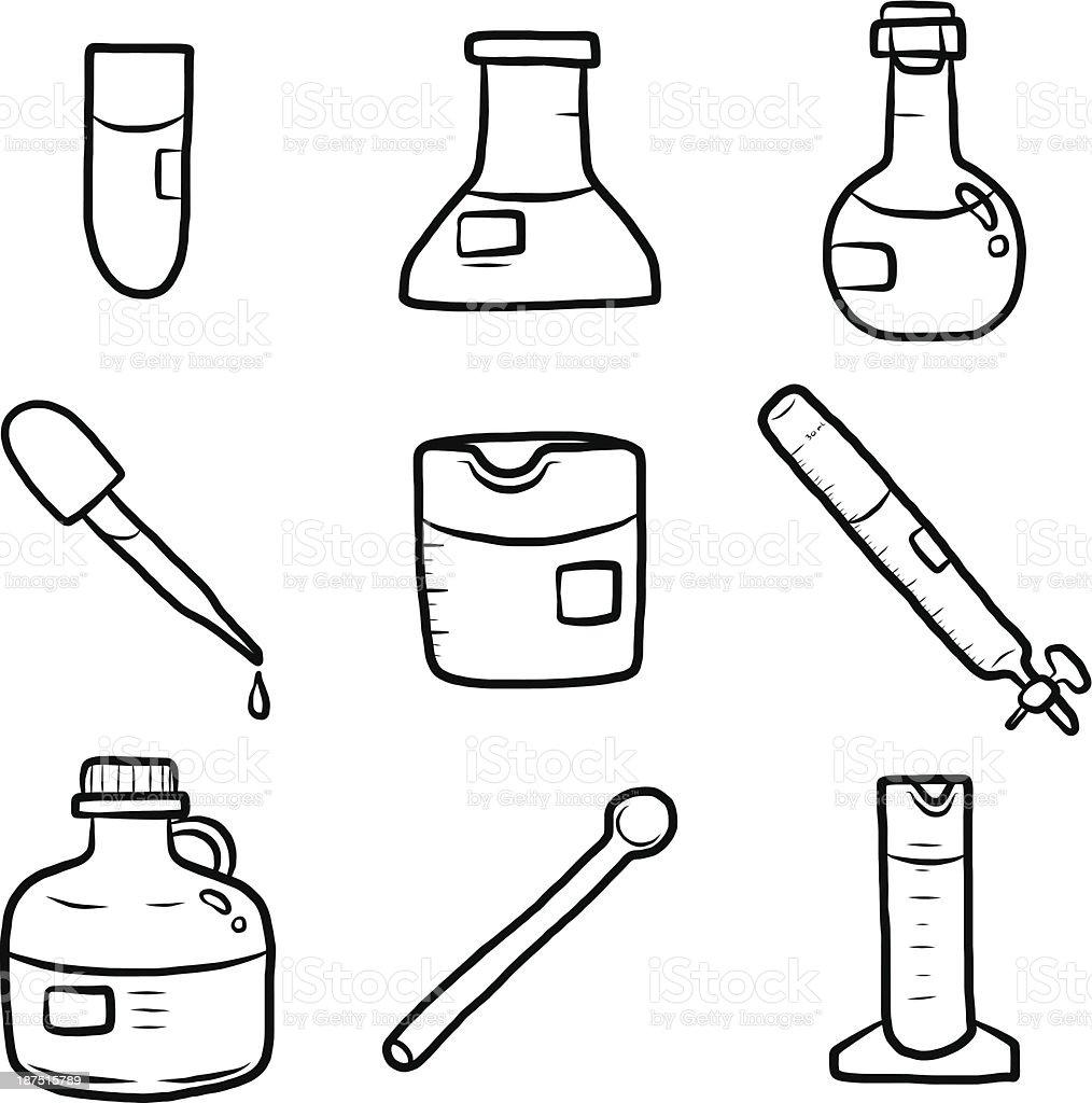 laboratory set royalty-free stock vector art