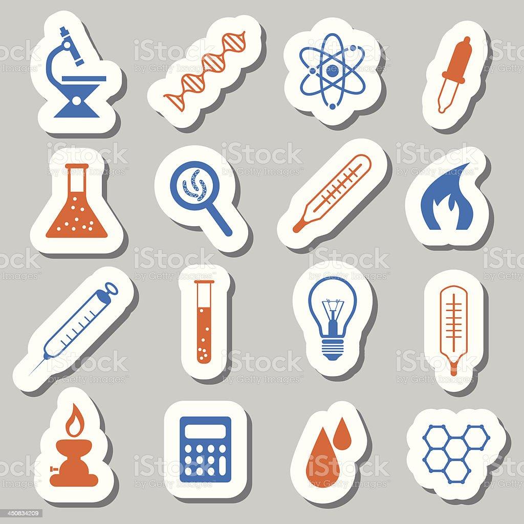 laboratory stickers royalty-free stock vector art