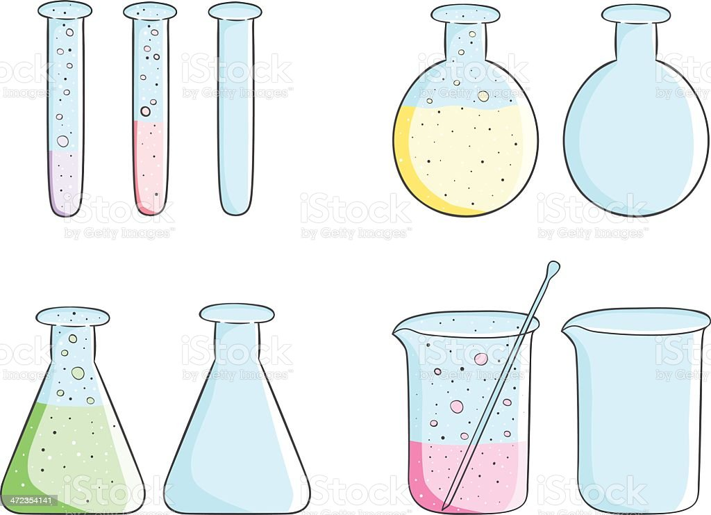 Laboratory test tubes royalty-free stock vector art
