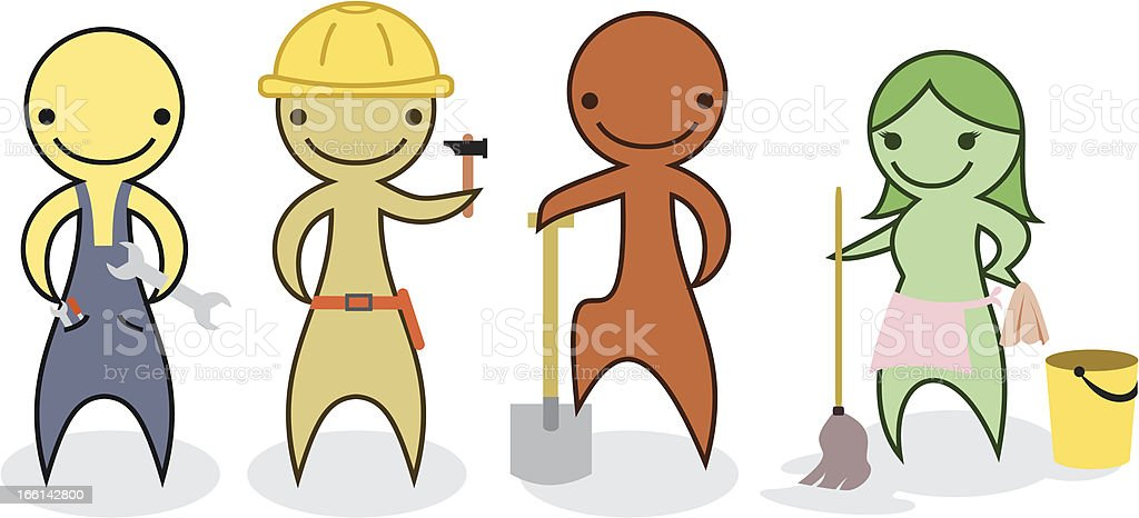 Labour workers royalty-free stock vector art