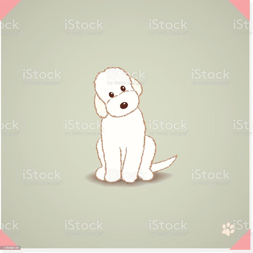 Labradoodle dog vector art illustration