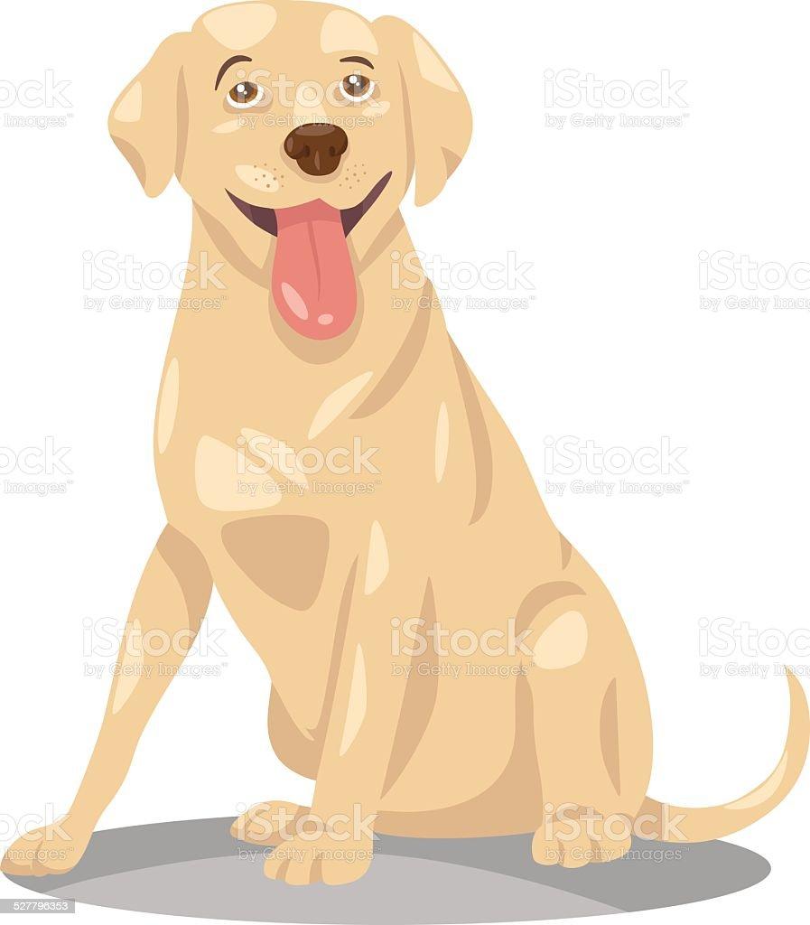 labrador retriever dog cartoon vector art illustration