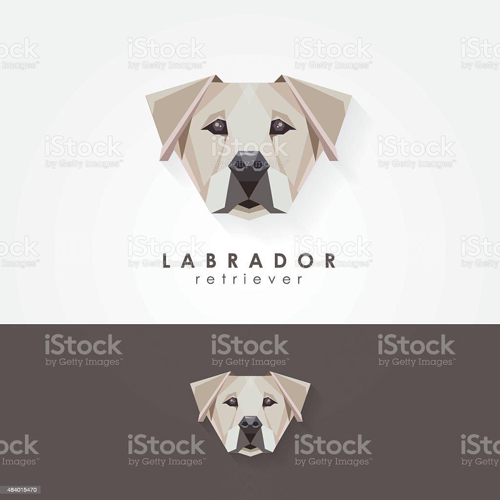 Labrador retriever polygonal geometric contemporary icon vector illustration vector art illustration