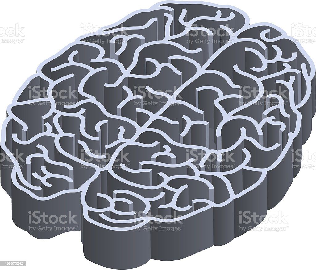 Labyrinth brain royalty-free stock vector art