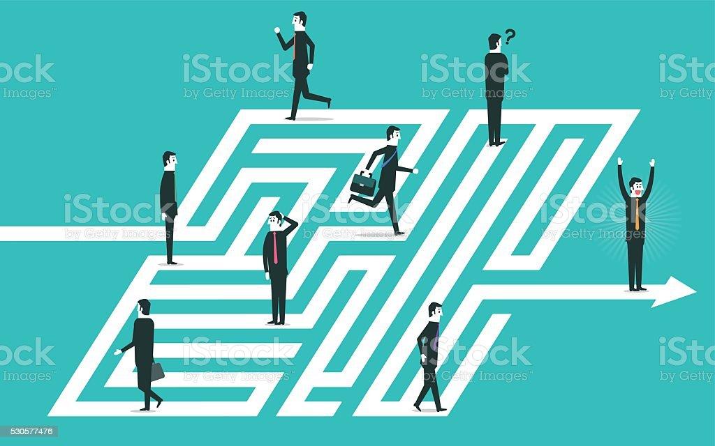 Labyrinth vector art illustration