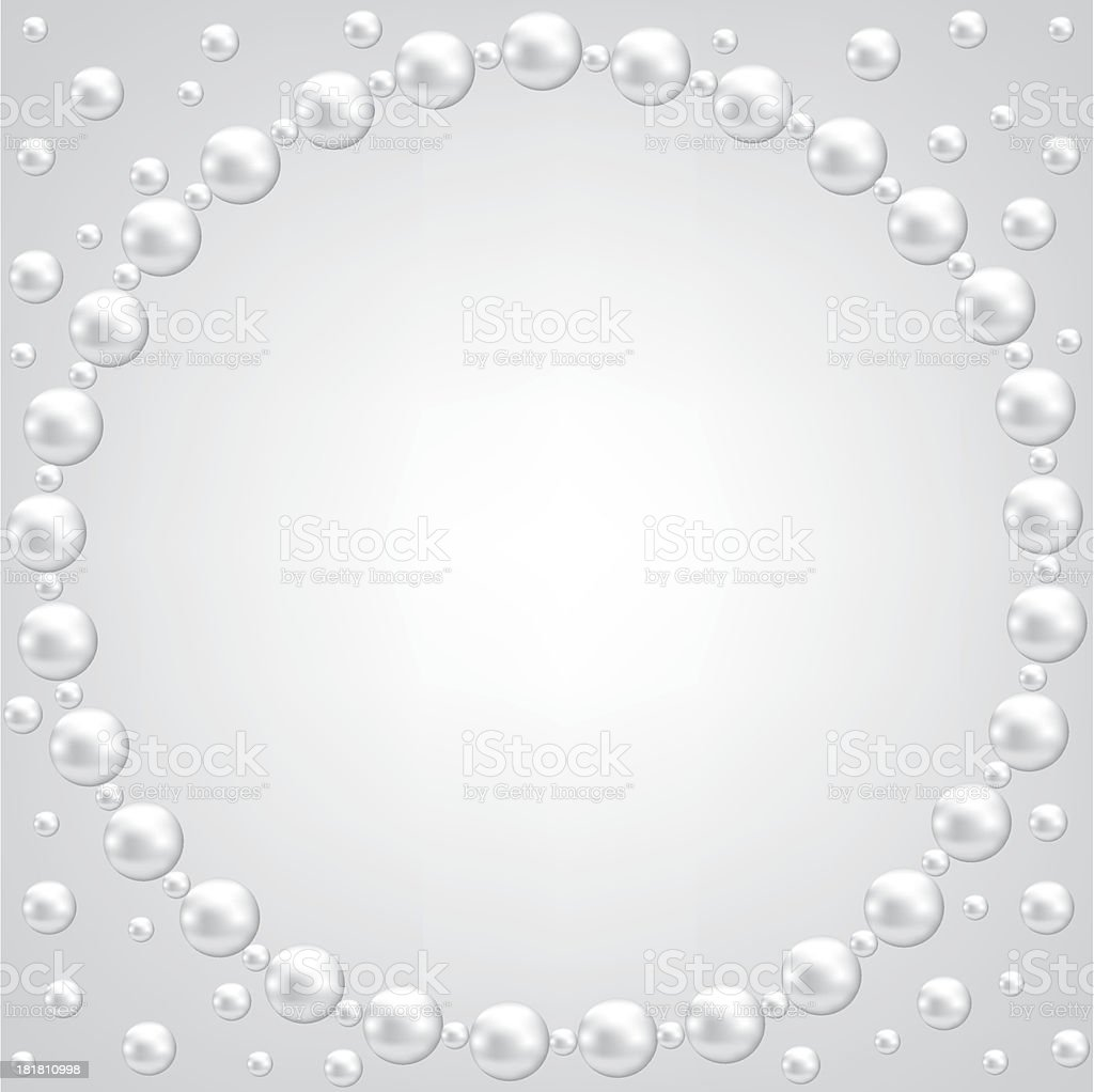 lace and pearl frame royalty-free stock vector art