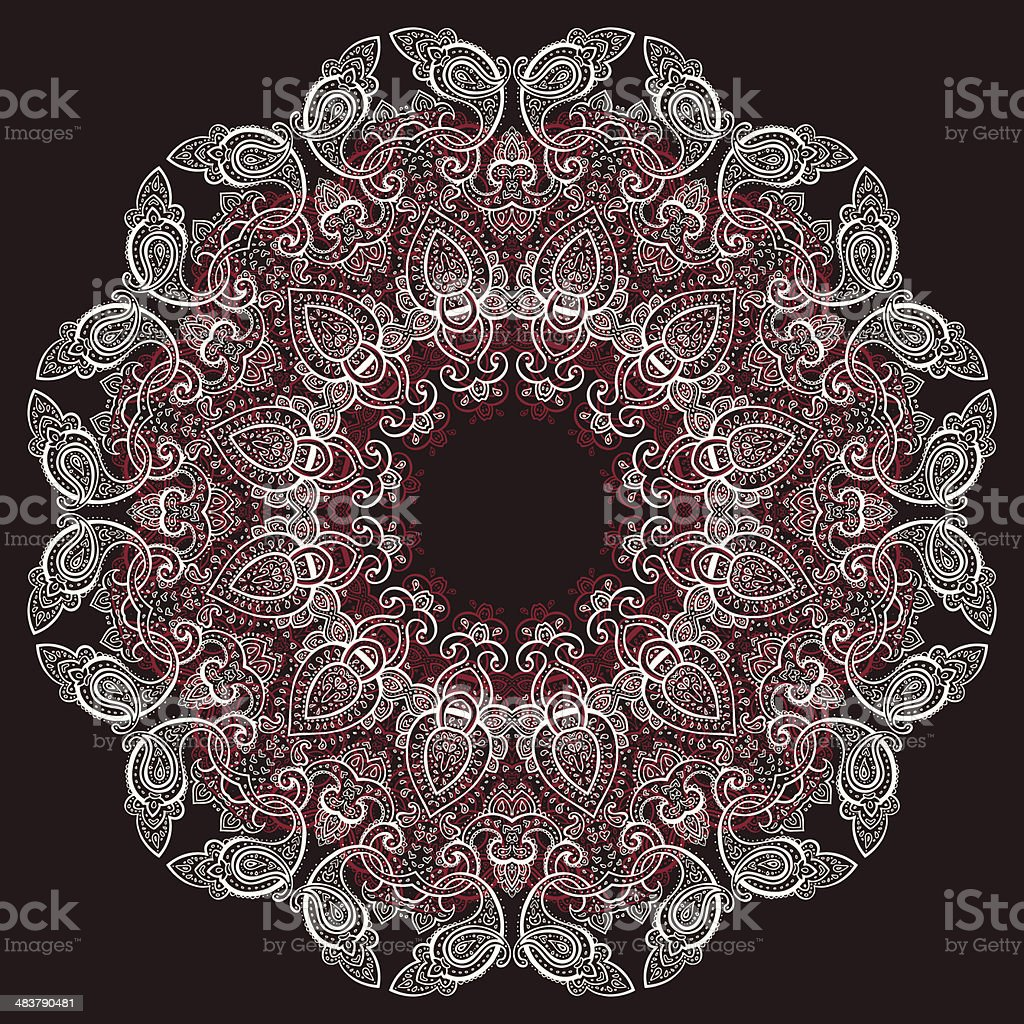 Lace background. Mandala. royalty-free stock vector art