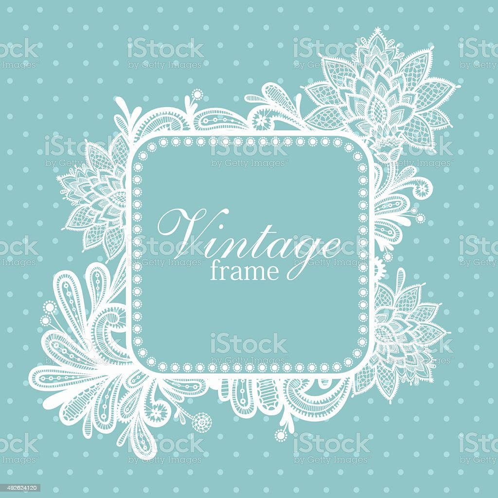 Lace background with a place for text. vector art illustration