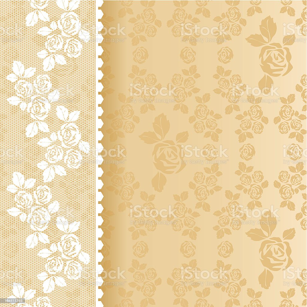 Lace beige square royalty-free stock vector art