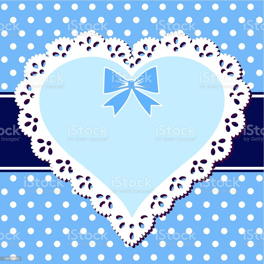 Lace blue heart royalty-free stock vector art