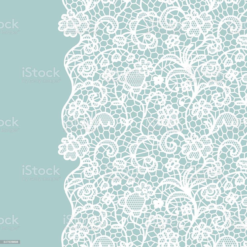 Lace border. Invitation card. vector art illustration