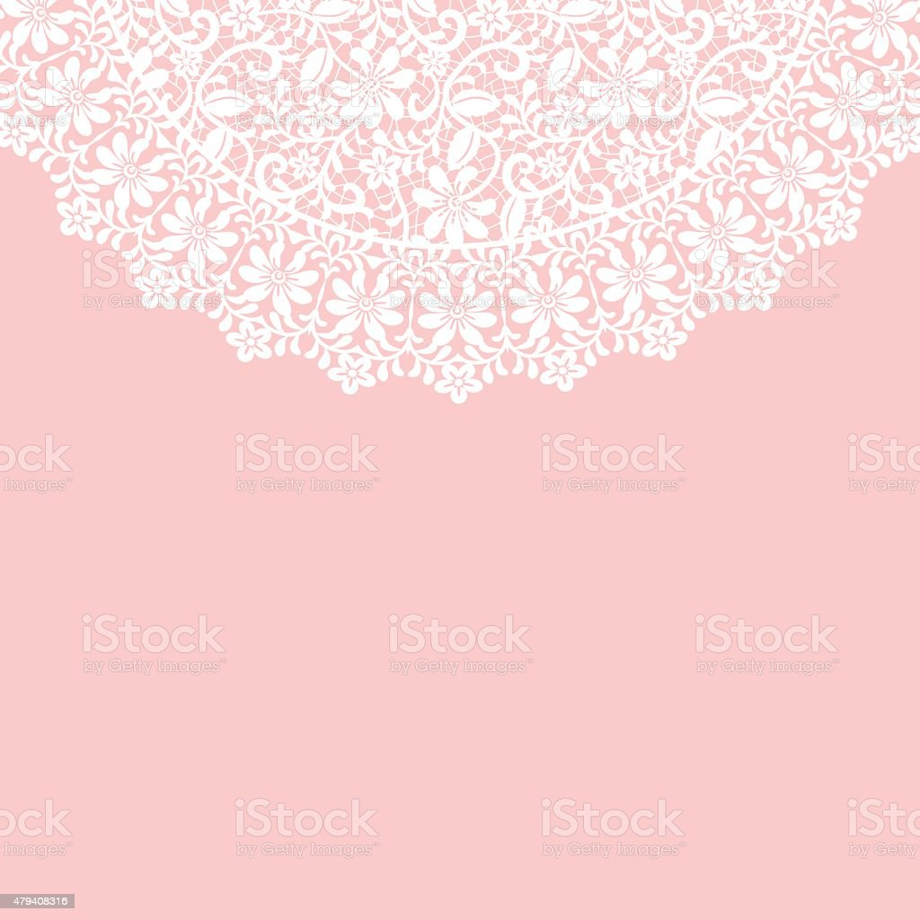 lace border vector art illustration